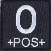 Matrix Square Military Blood Type Patch - O POS