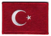 Matrix hook and loop Turkey Flag Patch