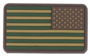 US Flag PVC hook and loop Rubber Patch - Reverse / Olive Drab Green