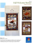 Fall Welcome Banners quilt patterns