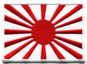 Naval Ensign Flag Japan Rising Sun Nippon Applique Iron-on Patch Product of Thailand