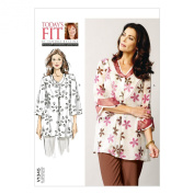 VOGUE PATTERNS V1345 Misses' Shirt Sewing Template, All Sizes