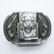 new western guns and tiger belt buckle with lighter LT016AS
