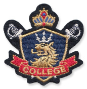 Exclusive Embroidered Motif 'College' for ironing on