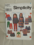 Simplicity Sewing Pattern #0684 : Child's Dress or Tunic, Jumper, Pants & Top