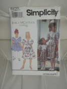 "Simplicity Sewing Pattern #8255 : Girls' Dress ""Jessica McClintock"""