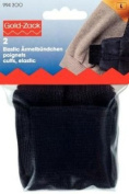 PRYM 994300 Cuffs elastic for sewing on; black-coloured, 2 pieces