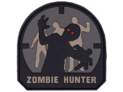 Zombie Hunter IFF PVC Rubber Matrix hook and loop Morale Patch