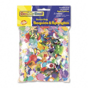Creativity Street : Sequins & Spangles, Assorted Metallic Colours/Shapes/Sizes, 120ml/Pack -:- Sold as 2 Packs of - 4 - / - Total of 8 Each