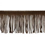 Chainette Fringe 10-Yard Polyester Fringe Rolls for Arts and Crafts, 5.1cm Long, Brown