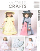 McCall's 4485 Theresa Borelli 46cm Doll Clothes Sewing Pattern ~ (Dresses communion) AMERICAN