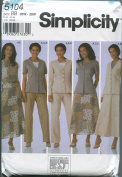 Simplicity Misses' Top, Jacket,Pants and Skirt Pattern #5104, size BB 20W-28W