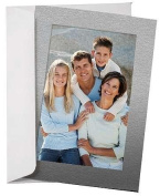 Simplicity METALLIC SILVER Photo Insert Card sold in 10s - 4x6