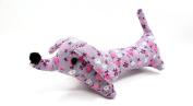 Dritz Collectible Dog Pincushion,purple with Pink Flowers Stuffed Dog Cushion,15cm l X 5.1cm w X 6.4cm h