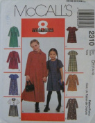 McCall's Pattern 2310 8 Great Look Dress Girl's size 10 - 12 - 14