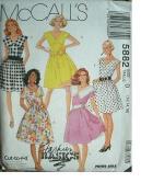 McCall's Pattern 5882 Fashion Dress Size 10, 12. 14 Women's