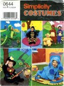 Simplicity 0644 Sewing Pattern Toddlers Dragon Bee Hobo Dog Costumes Size 1/2 - 4