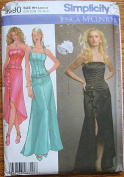 Simplicity 4690 Sewing Pattern ~ Jessica McClintock Misses' Skirt in 2 Lengths and Corset Top, Sizes 6-12