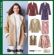 Simplicity 5306 Sewing Pattern Misses Coat Jackets & Vests Size 6 - 16