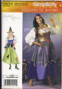 Simplicity Sewing Pattern 2521 - Use to Make - Gypsy, Witch Costumes - Woman's Sizes 18W to 24W