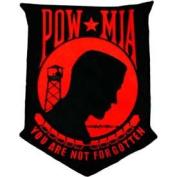POW MIA Red/Black 30cm Patch
