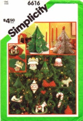 Simplicity 6616 Yellow Wax Transfers Pattern Candlewicking Ornaments Centrepiece