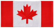 Large Canada Flag Embroidered Patch Canadian Maple Leaf Iron-On National Emblem