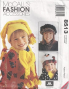 McCall's 8513 - Fashion Assessories - Kids Hats and Scarfs for All Sizes