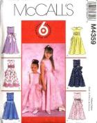 McCall's Sewing Pattern M4359 Girls' Sleeveless Formal Dresses 6 Styles, CJ