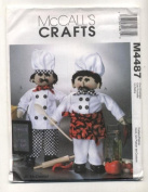 McCalls Crafts 4487 Standing Chef Soft Sculpture Dolls Sewing Pattern