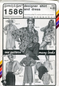 Stretch & Sew Pattern 1586 ~ Designer Shirt and Dress ~ Bust 30-46