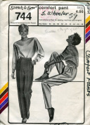 Stretch & Sew Pattern 744 ~ Women's Comfort Pant