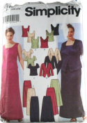 Simplicity 5973 Pattern Womens Evening Jacket, Slim and Flared Skirts and Lined Tops Size FF 18W-24W