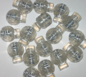 100 count Clear Frost Round Ball Cord Locks Toggles