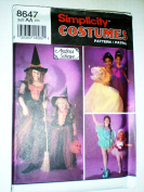 UNCUT & OOP SIMPLICITY 8647 GIRL'S WITCH, PRINCESS & FAIRY COSTUME PATTERN SIZE