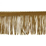 Chainette Fringe 10-Yard Polyester Fringe Rolls for Arts and Crafts, 5.1cm Long, Gold