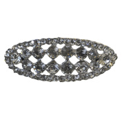 Rhinestone Brooches BW-111 Oval Rhinestone Brooch with Pin