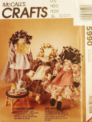 OOP McCalls Crafts Pattern 5990. 50cm Ethnic Rag Dolls & Clothes