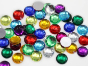 11mm Assorted Colours Round Jewels - 200 Pieces