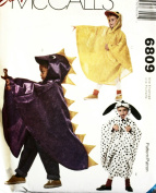 McCall 6809 sewing pattern makes Toddlers and Kids Poncho Costumes Dog Dino Duck Mouse Rabbit size 2-8 OOP