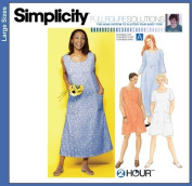 SIMPLICITY PATTERN 9295 FULL FIGURE SOLUTIONS WOMEN'S DRESS IN TWO LENGTHS size GG PLUSS 26W - 32W
