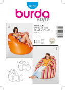 BURDA DECO 8373 BEAN BAG CHAIRS in 2 SIZES SEWING PATTERN