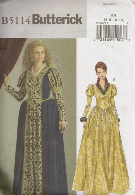 Butterick B5114, Misses' Costume, Size AA(6-12), OOP