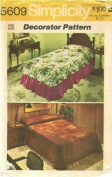 Simplicity 5609 Sewing Pattern Throw Style Bedspread Coverlet and Dust Ruffle