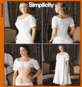 Simplicity Sewing Pattern 7215 Fashion Historian Misses' Chemise and Corset Sizes 14, 16, 18, 20