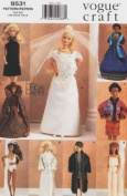 Vogue 9531 Fashion Barbie Doll Wardrobe Sewing Pattern and other 29cm
