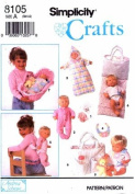 Simplicity 8105 Crafts Sewing Pattern Andrea Schewe Baby Doll Clothes & Accessories