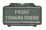 """Mil-Spec Monkey """"Front Toward Enemy hook and loop Patch - ACU"""