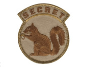"Mil-Spec Monkey ""Secret Squirrel hook and loop Patch - Desert"