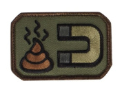 Mil-Spec Monkey Shit Magnet hook and loop Patch - Forest